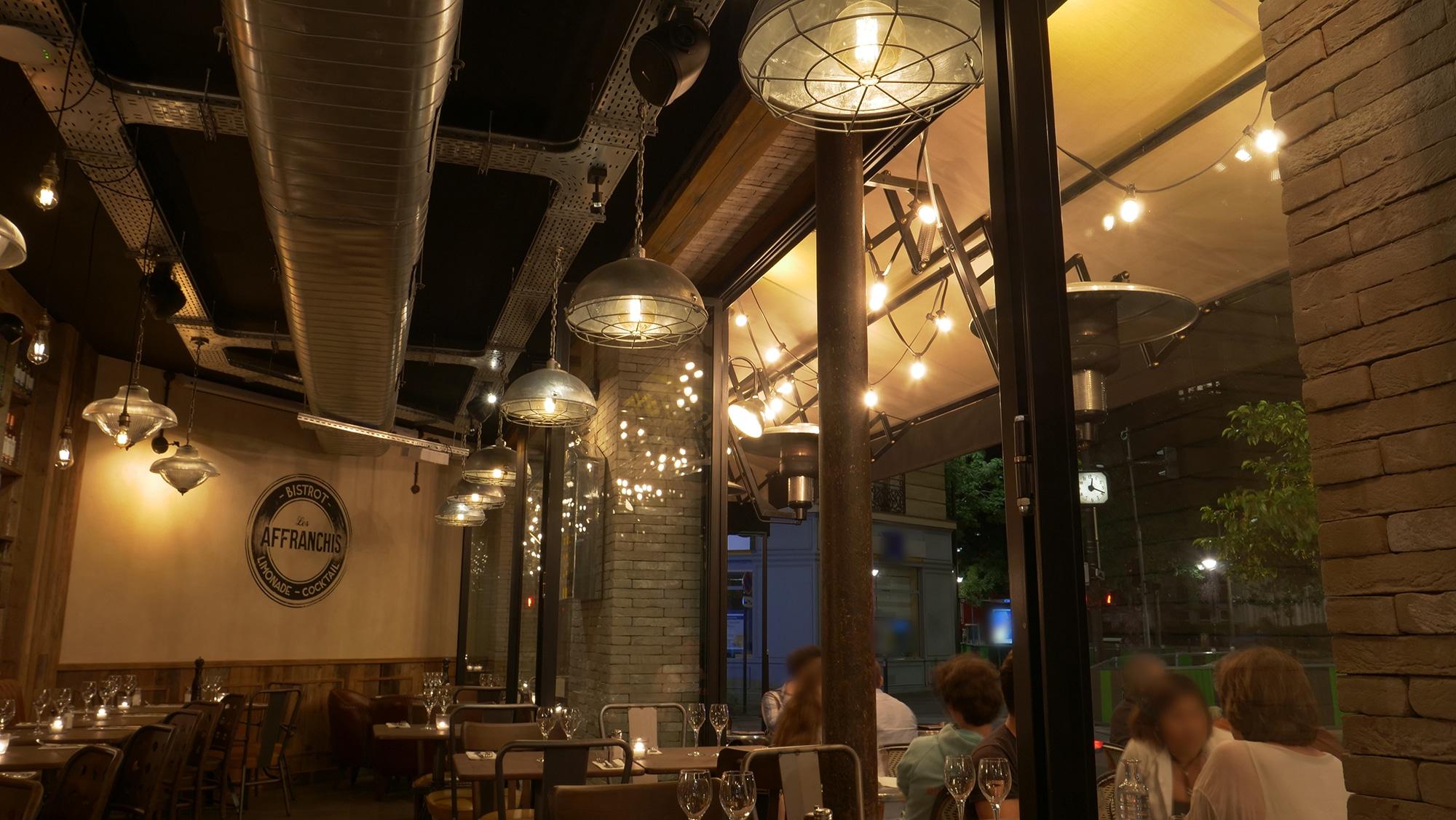 Salle de nuit Brasserie Les Affranchis Paris 13e