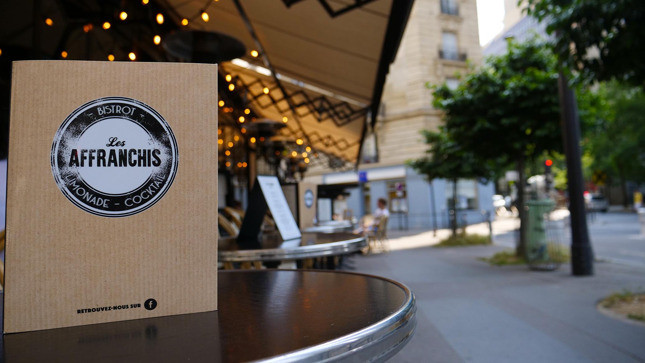 Carte en terrasse Les Affranchis Paris 13e