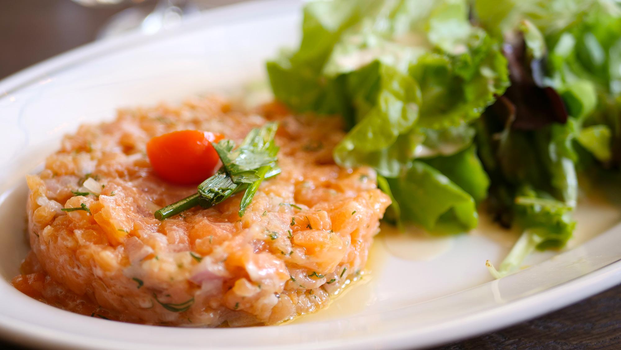 Tartare de saumon brasserie les affranchis Paris 13e